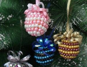 Новогодние ёлочные игрушки своими руками