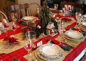 Как украсить стол на новый 2014 год